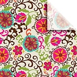 JAM Paper® Printed Gift Tissue, Happy Flower, 20 x 30, 240 Sheets (115BPT2671)