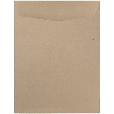 JAM Paper® 9 x 12 Open End Catalog Envelopes, Brown Kraft Paper Bag, 25/pack (6315446a)