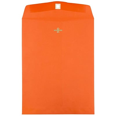 JAM Paper® 10 x 13 Open End Catalog Envelopes with Clasp Closure, Orange , 25/Pack (913745a)