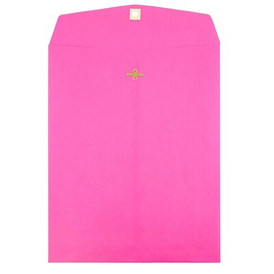 JAM Paper® 10 x 13 Open End Catalog Envelopes with Clasp Closure, Ultra Fuchsia, 25/Pack (900909026a)
