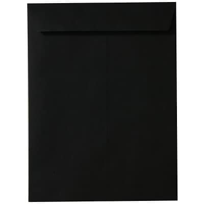 JAM Paper® 9 x 12 Open End Catalog Envelopes, Black, 25/pack (v01225a)