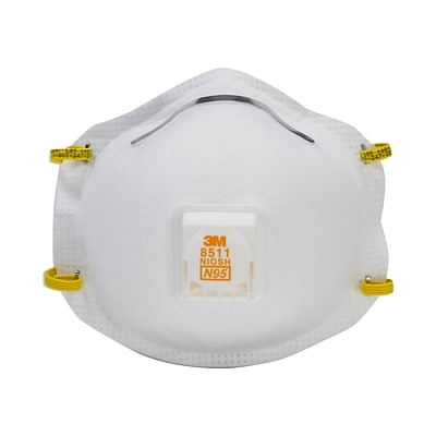 3M™ N95 Disposable Respirator with Cool Flow™ Valve, 10/Pack (8511P10-DC-PS)
