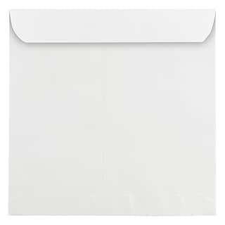 JAM Paper 11.5 x 11.5 Large Square Invitation Envelopes, White, 100/Pack (03992321B)
