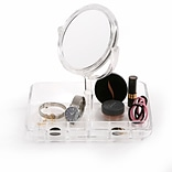 Mind Reader Acrylic Jewelry Organizer With Mirror, Clear (JEWELMIR-CLR)