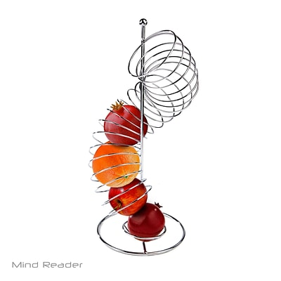 Mind Reader Stainless Steel Twisted Orange Fruit Holder, Silver (OHTWIST-SIL)