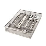 Mind Reader Mesh Cutlery Tray 2 Pack, Silver (MESHCUT2-SIL)