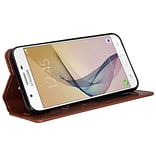 Wallet Case for Samsung Galaxy J7 with Stand brown
