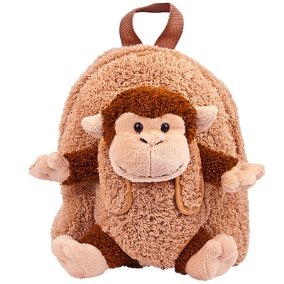 Back to School Monkey Plush Backpack for Elementary Kindergarden Kid