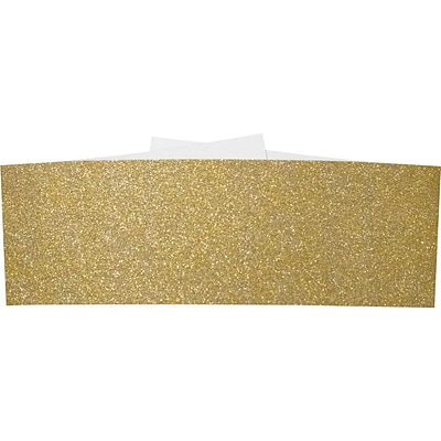LUX A7 Belly Bands 250/Pack, Gold Sparkle (A7BB-MS02-250)