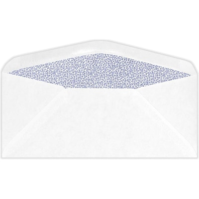 LUX #11 Regular Envelopes (4 1/2 x 10 3/8) 50/Pack, 24lb. White w/ Security Tint (45179-ST-50)