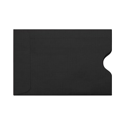 LUX Credit Card Sleeves (2 3/8 x 3 1/2) 250/Pack, Black Linen (1801-BLI-250)