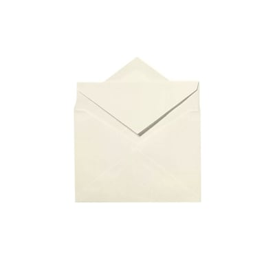 LUX LEE Bar Outer Envelopes (5 1/2 x 7 1/2) 250/Pack, Natural White - 100% Cotton (LEEOUTER-SN-250)