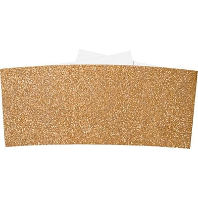 LUX 6 1/4 Belly Bands  500/Pack, Rose Gold Sparkle (614BB-MS03-500)