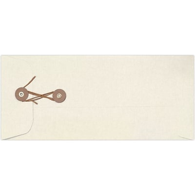 LUX #10 Button & String Envelopes (4 1/8 x 9 1/2) 500/Pack, Natural Linen (10BS-NLI-500)