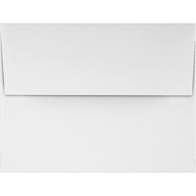 LUX A2 Invitation Envelopes (4 3/8 x 5 3/4) 50/Pack, Rolland Enviro - 70lb. True White (4870-RE70W-50)