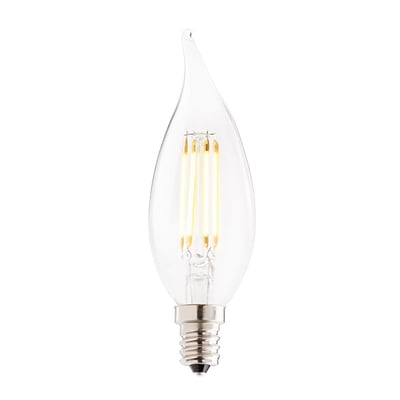 Bulbrite LED CA10 2.5W Dimmable 2700K Warm White Light Bulb, 4 Pack (776658)
