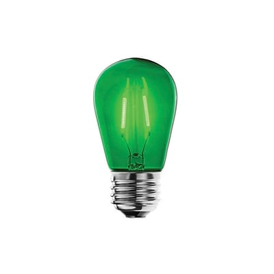 Bulbrite LED S14 2W Dimmable Green 280D Light Bulb, 5 Pack (776561)