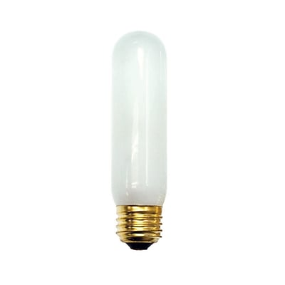 Bulbrite Incandescent (INC) T10 40W Dimmable Frost 2700K Warm White Light Bulb, 25 Pack (704240)