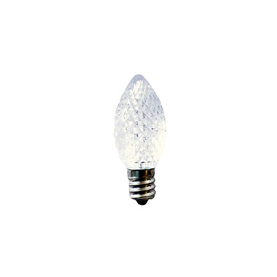 Bulbrite LED C7 0.6W Clear 2700K Warm White Light Bulb, 25 Pack (770171)
