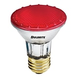 Bulbrite Halogen PAR20 50W Dimmable 2900K Red Light Bulb, 4 Pack (683507)