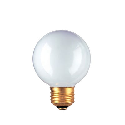 Bulbrite Incandescent (INC) G19 25W Dimmable 2700K Warm White Light Bulb, 25 Pack (320025)