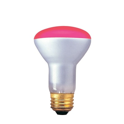 Bulbrite Incandescent (INC) R20 50W Dimmable Pink Wide Flood Light Bulb, 6 Pack (226050)