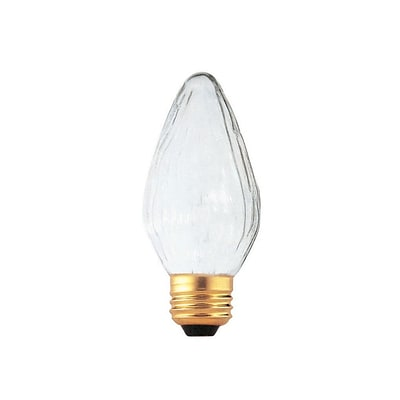 Bulbrite Incandescent (INC) F15 25W Dimmable Fiesta 2700K Warm White Light Bulb, 25 Pack (421025)