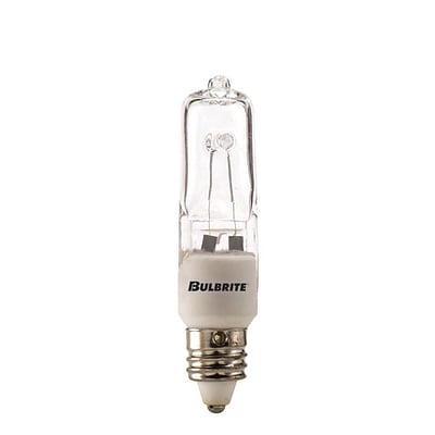 Bulbrite Halogen T4 35W Dimmable Clear 2900K Soft White Light Bulb, 5 Pack (610035)