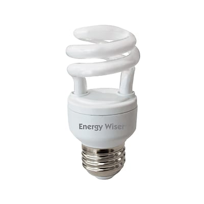 Bulbrite Compact Fluorescent (CFL) T2 5W 2700K Warm White Light Bulb, 4 Pack (509207)