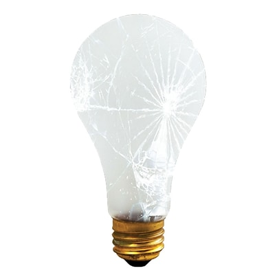 Bulbrite Incandescent (INC) A21 150W Dimmable Frost Tough Coat 2700K Warm White Light Bulb, 12 Pack (108150)
