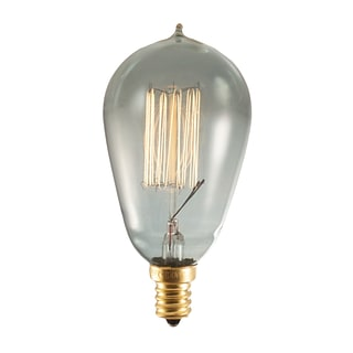 Bulbrite Incandescent (INC) ST15 25W Dimmable Nostalgic 1800K Smoke Amber Light Bulb, 4 Pack (152510