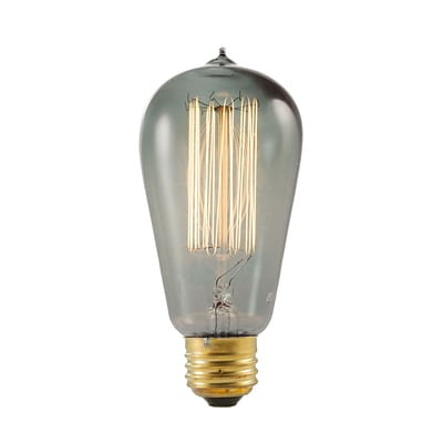 Bulbrite Incandescent (INC) ST18 40W Dimmable Nostalgic 1800K Smoke Amber Light Bulb, 4 Pack (154019)