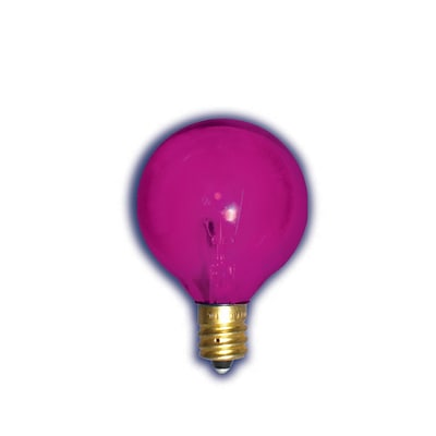 Bulbrite Incandescent (INC) G12 10W Dimmable Transparent Pink Light Bulb, 25 Pack (305010)
