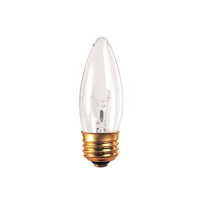 Bulbrite Incandescent (INC) B10 25W Dimmable Clear 2700K Warm White Light Bulb, 50 Pack (495025)