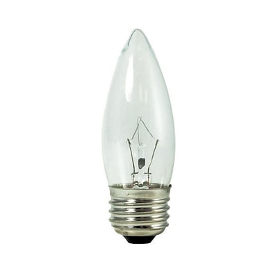 Bulbrite Krypton B10 40W Dimmable Clear 2700K Warm White Light Bulb, 20 Pack (460540)