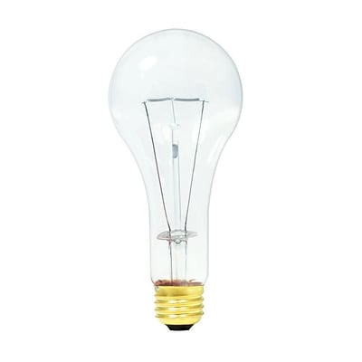 Bulbrite Incandescent (INC) A23 200W Dimmable Clear 2700K Warm White Light Bulb, 12 Pack (101201)