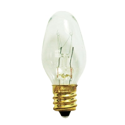 Bulbrite Incandescent (INC) C7 4W Dimmable Clear 2700K Warm White Light Bulb, 75 Pack (709104)