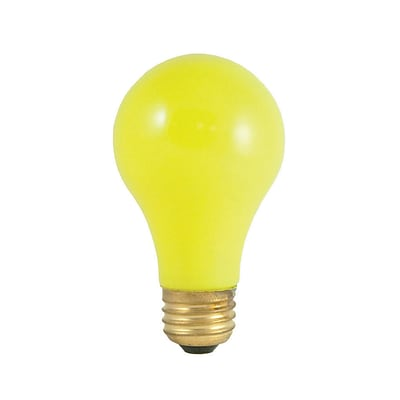 Bulbrite Incandescent (INC) A19 40W Dimmable Party Bulb Ceramic Yellow Light Bulb, 18 Pack (106840)