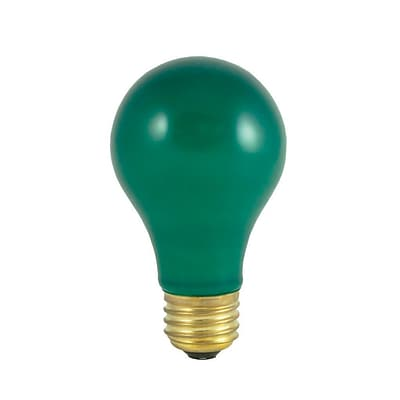 Bulbrite Incandescent (INC) A19 40W Dimmable Party Bulb Ceramic Green Light Bulb, 18 Pack (106440)