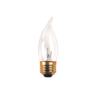 Bulbrite Incandescent (INC) CA10 40W Dimmable Clear 2700K Warm White Light Bulb, 50 Pack (498040)