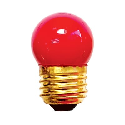 Bulbrite Incandescent (INC) S11 7.5W Dimmable Ceramic Red Light Bulb, 25 Pack (702707)