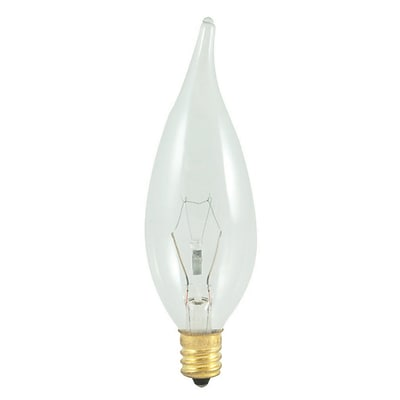 Bulbrite Incandescent (INC) CA10 60W Dimmable Clear 2700K Warm White Light Bulb, 25 Pack (403560)