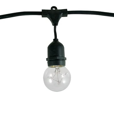Bulbrite Dimmable String Light Kit in Black with 15 Sockets, 1 Pack - G16 5W Bulbs Included  (810003)