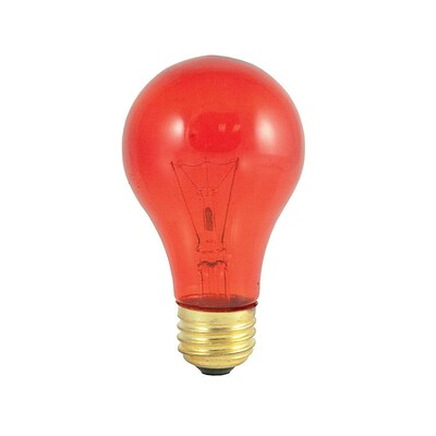 Bulbrite Incandescent (INC) A19 25W Dimmable Party Bulb Transparent Orange Light Bulb, 18 Pack (105525)