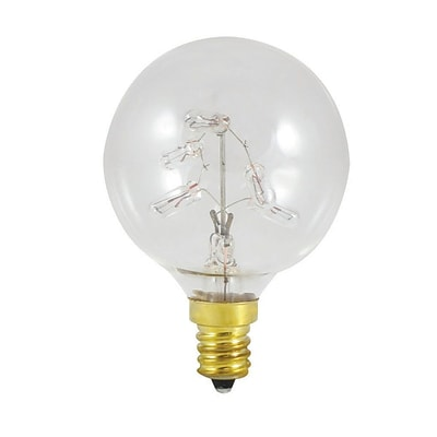 Bulbrite Incandescent (INC) G16 5W Dimmable Star Light Clear 2700K Warm White Light Bulb, 6 Pack (716310)