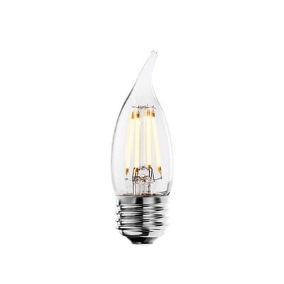 Bulbrite LED CA10 4W Dimmable 2700K Warm White 280D Light Bulb, 4 Pack (776560)