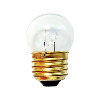 Bulbrite Incandescent (INC) S11 7.5W Dimmable Clear 2700K Warm White Light Bulb, 25 Pack (702107)