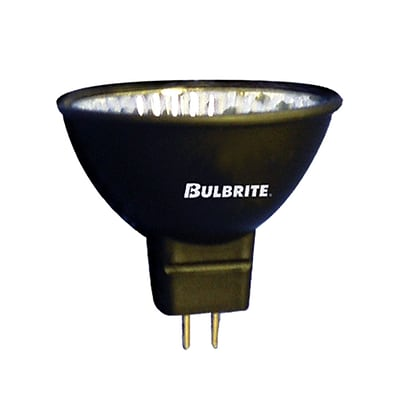Bulbrite Halogen MR16 50W Dimmable Black 2900K Soft White 24D Light Bulb, 5 Pack (638510)