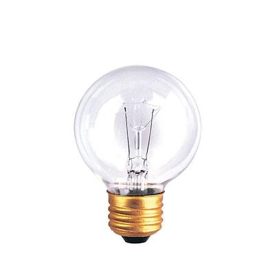 Bulbrite Incandescent (INC) G19 25W Dimmable Clear 2700K Warm White Light Bulb, 25 Pack (321025)