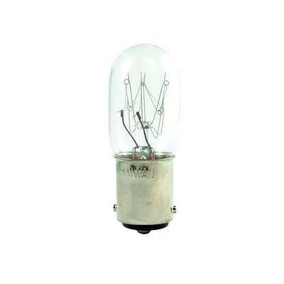 Bulbrite Incandescent (INC) T7 15W Dimmable Clear 2700K Warm White Light Bulb, 25 Pack (706110)